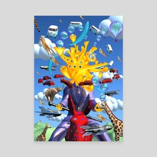 Bringer of happiness - Canvas by Bob Lea