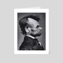 Abraham Lincoln - Art Card by Priyatham Sri