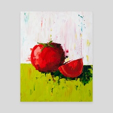 Plump Red Tomato - Canvas by Eric Buchmann