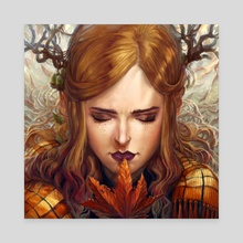 Autumn Girl - Canvas by Naomi Robinson