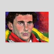 Senna - Canvas by Bryan Fogaça Rosado