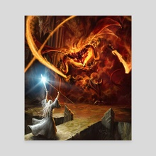 Gandalf and the Balrog - Canvas by Gonzalo Kenny