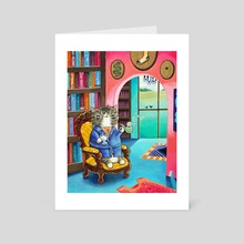 Wadsworth's Library - Art Card by Cassie Graus