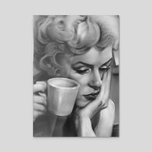 Marylin Monroe_Black and White - Acrylic by Rafael Rivera