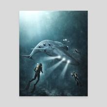 The Whale - Canvas by Marco Zagara