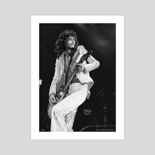 Jimmy Page portrait by Hezi Cohen Ghelman