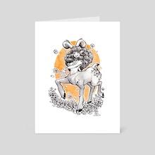 Forest Devil Girl - Art Card by Karla Diaz
