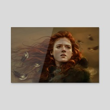 Kissed by Fire - Acrylic by Dalisa Art