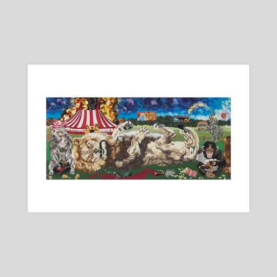 Revenge of the Circus Animals (Lion) by Andrea Bergen