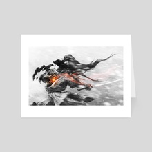 Confrontation in Black and White - Art Card by Aaron Nakahara