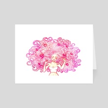 Pink - Art Card by Frederike Weissmann