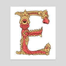 Letter E - Canvas by Yuda Bento