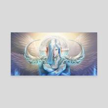 The Archangel Uriel - Canvas by Sonia Wisniewska