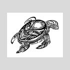 Tribal Turtle - Art Print by Katrina Wold