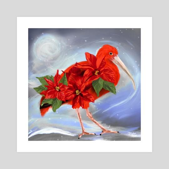Scarlet Ibis + Poinsettia  by Meghan Keeley