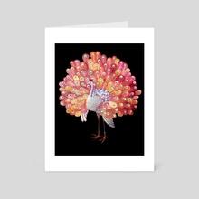 Peafowl - Art Card by Jonnakonna Uhrman