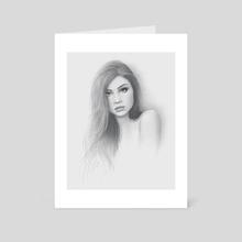 Breath Portrait - Art Card by Moisés Rodríguez
