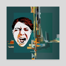 Scream - Canvas by Dmitry Payvin