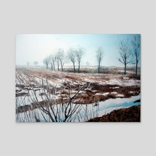 """Snow in Vojvodina"" - Acrylic by Maja Verzotti"