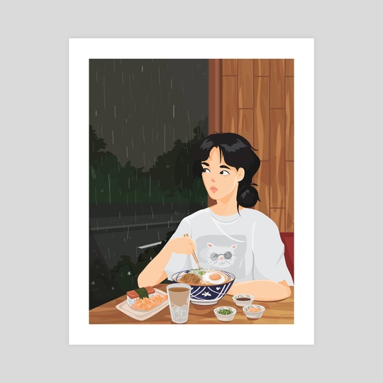 udon on a rainy day by maryeaahh