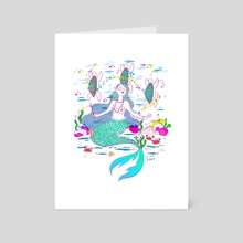 Dancing Turtles - Art Card by Alejandra Garza