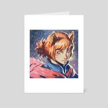 Fox - Art Card by Jasqreate