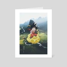 Son Goku - Art Card by Obnubilant  ラヤン