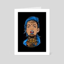 Blue Girl - Art Card by Ephrem Rokk