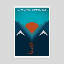 L'Alpe D'huez - Canvas by Jeremy Harnell