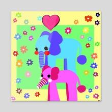 Elephant  - Acrylic by brixton :)