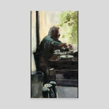 Eating Alone - Canvas by Angie Kang