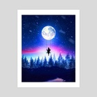 MoonSwing - Art Print by Florin Alex