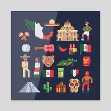 Mexico - Acrylic by vectorpixelstar  Polovinkin