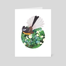 Fantail - Art Card by Anthony Wallace