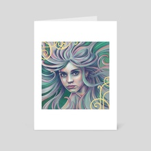 Nimf - Art Card by Linda van Zanten