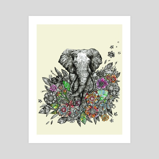Spirit Animal: Elephant. by Fanitsa Art