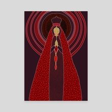 Red Angel with love - Canvas by Linda Kofoed