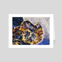 Flower of Paint  - Art Card by nia carr