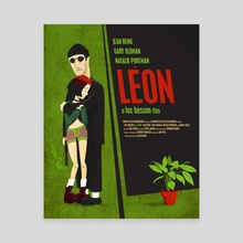 Leon and Mathilda - Canvas by Delly Del