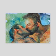 The kiss - Canvas by Hongtao Huang