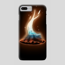 what do you see in the fire ? - Phone Case by celine espitallier