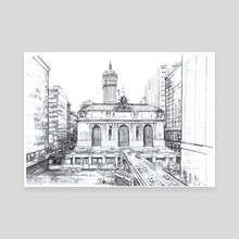 Grand Central Terminal - Canvas by mamut  rojo