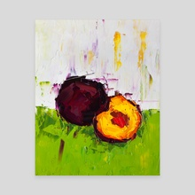 I Can Feel It in My Plums - Canvas by Eric Buchmann