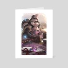 Narmaya Laying - Art Card by T0fumon