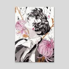Flowers - Acrylic by Katharina Ortner