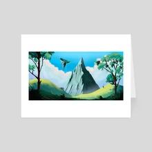 Great Peak - Art Card by David Denny
