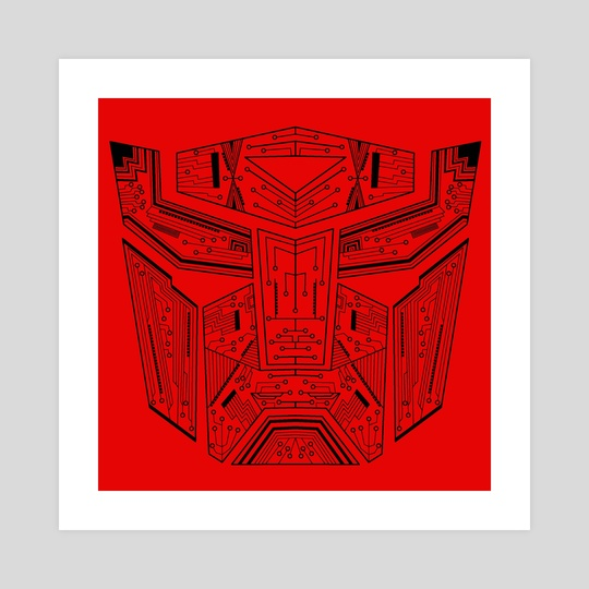 Autobot Tech Black and Red by Genevieve Blais