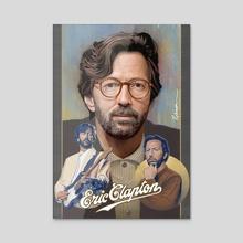 Eric Clapton - Acrylic by David Robinson