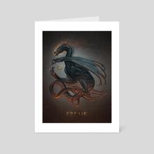 Fafnir - Art Card by Kiana Hamm