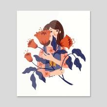 wallflower - Acrylic by Dian Pu